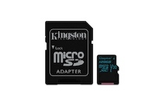 Kingston 128 GB Micro SDXC Canvas Go! C10 90R 45W + SD adapter
